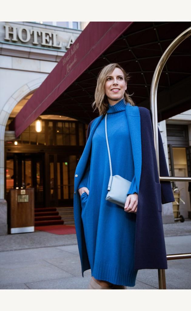 Kleid Oversize mit Rollkragen